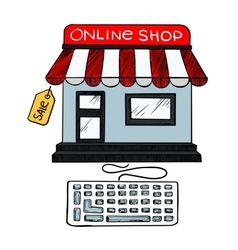 Online internet shop sale icon vector