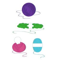 Yarn balls set vector image