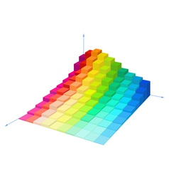 Volumetric multi-colored diagram vector