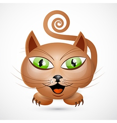 Abstract Brown Cat vector image