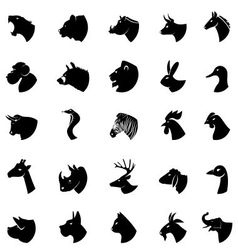 animal silhouette vector image