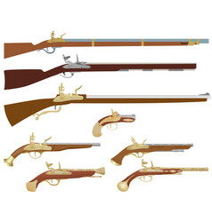 antique firearms vector image