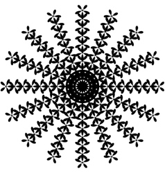 Black and White Abstract Psychedelic Art vector image