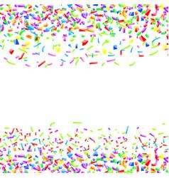 bright colorful childish confetti pattern vector image vector image