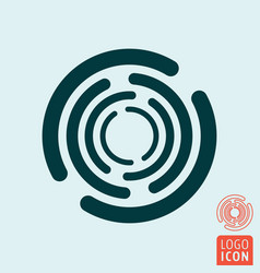 Circle rotate icon vector