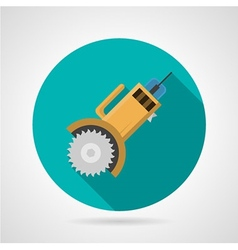 Circular saw flat icon vector