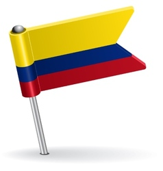 Colombia pin icon flag vector image vector image
