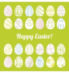 Decorative card with Easter eggs vector image