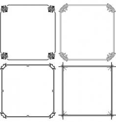 elegant frame vector image