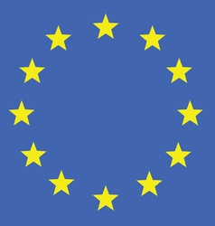 eu flag in colorful vector image vector image