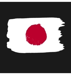 Flag of japan on a black background vector