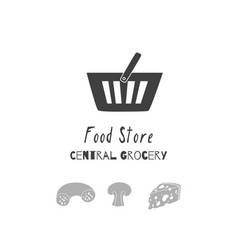 Food store logo template vector