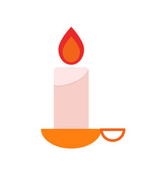 glowing candle icon vector image vector image