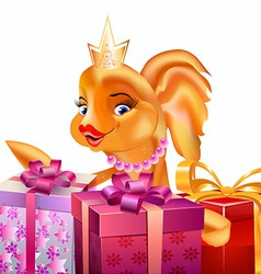 Gold fish gifts1 vector