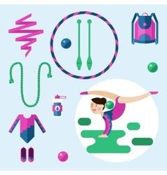 Items for rhythmic gymnastics vector image vector image