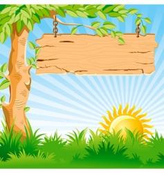 landscape sunrise vector image