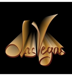Las vegas lettering vector