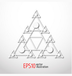 magic white triangle with recursive 3d sacral vector image vector image