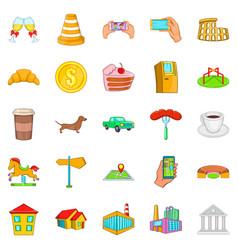 market icons set cartoon style vector image vector image