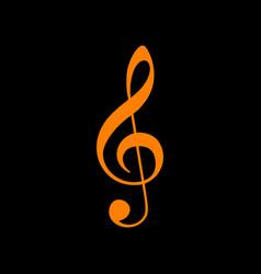 music violin clef sign g-clef treble clef vector image vector image
