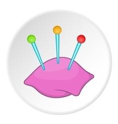 Needle bar icon flat style vector image