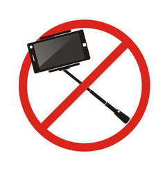 no selfie sticks do not use monopod selfie vector image