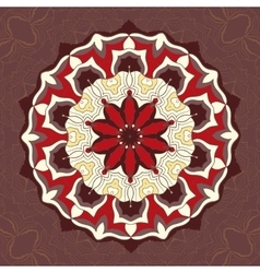 Red and brown color mandala ornamentdecorative vector