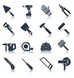 Repair construction tools black vector image vector image
