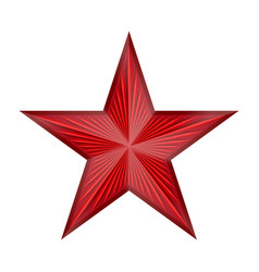 Shiny red star with rays vector