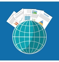 Spreadsheet global infographic design vector