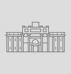 Trevi Fountain vector image vector image