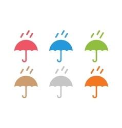 Umbrella colored logo vector