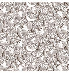 vintage orange seamless pattern vector image vector image