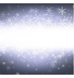 Violet winter background with snowflakes vector