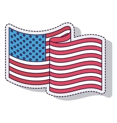 usa flag isolated icon design vector image