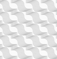 Slim gray hatched diagonal ribbons vector