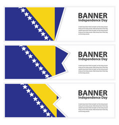 Bosnia and herzegovina flag banners collection vector
