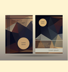 Booklet layout templates promotion page design vector