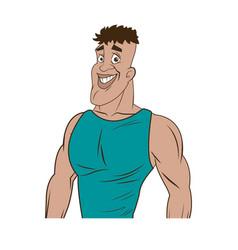 man athletic bodybuilding sport image vector image