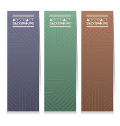 Vertical banner set of three modern graphic theme vector