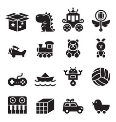 toy icon set vector image