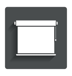 Louvers rolls sign icon window blinds jalousie vector