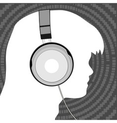 Man in headphones vector