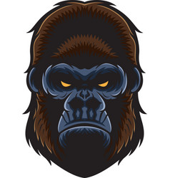 Gorilla head vector