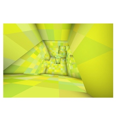 3d futuristic labyrinth green shaded interior vector