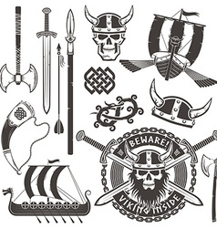 Viking elements vector
