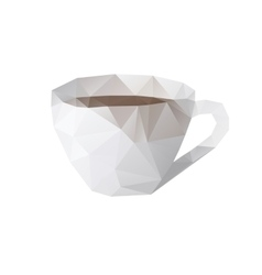 cup lowpoly vector image