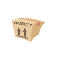 Packing box icon cartoon style vector