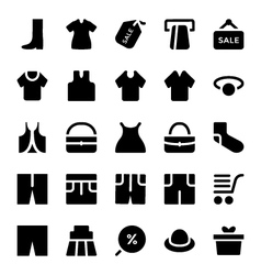Clothes Icons 10 vector image