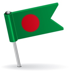 Bangladesh pin icon flag vector image vector image